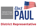 Political Campaign Sign - Red, White, and Blue