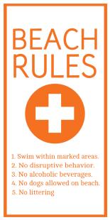 Custom Beach Rules Poster Image